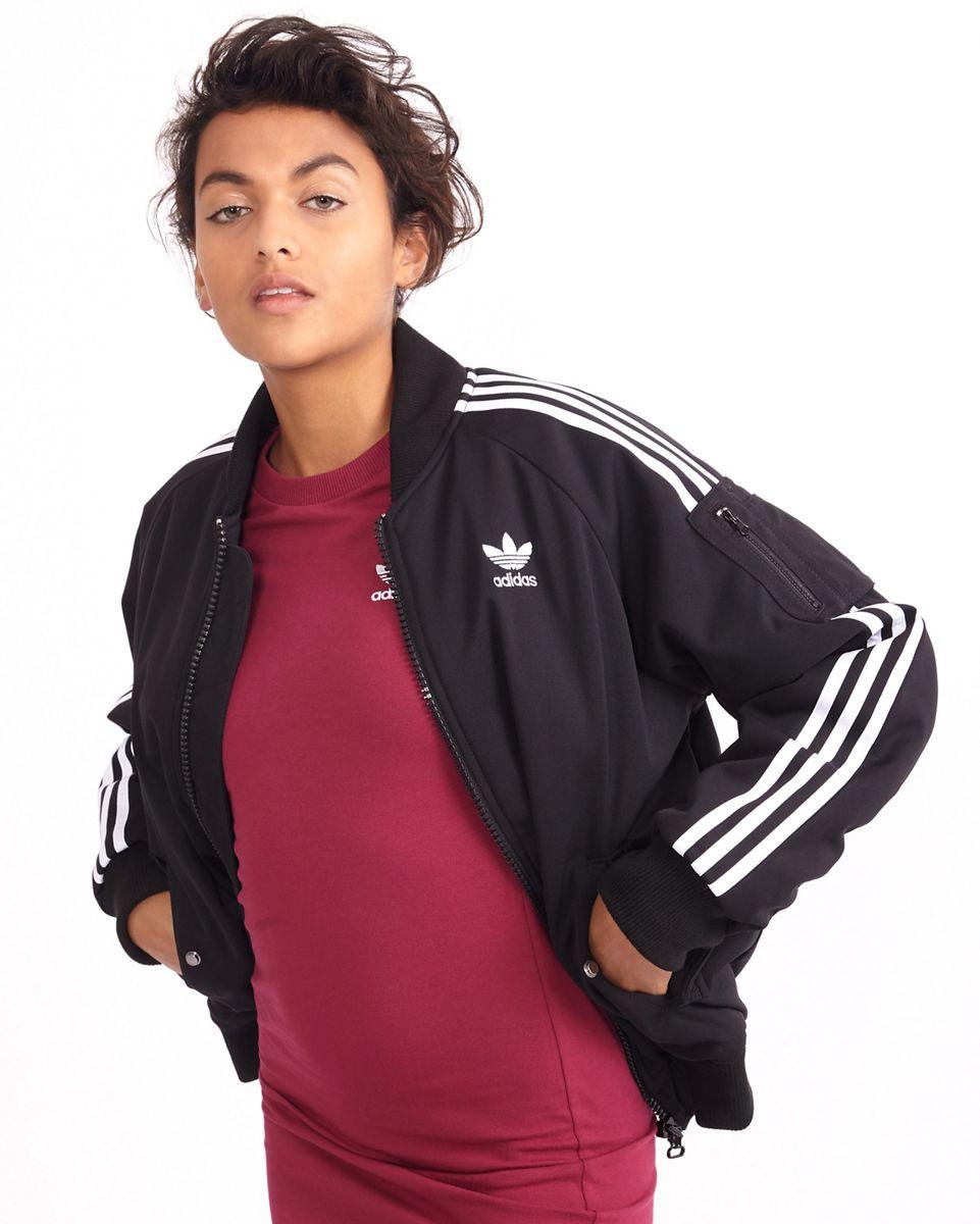 Détails sur Adidas Originals Femmes Sst Superstar Veste Bomber Top Noir Transp. Dos