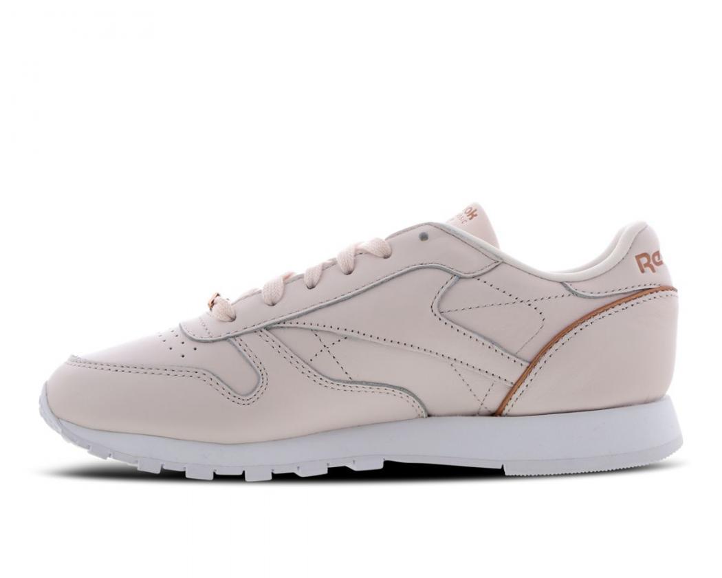 Leather RunningFemme Blanc Reebok Classic · Danzón Pérez Or Rose 7y6fYbg