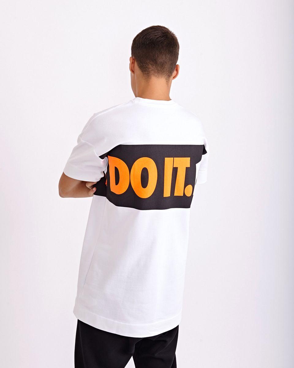 nike just do it blanche et orange